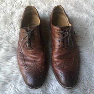 Cole Haan Brown Leather Wingtip Oxford